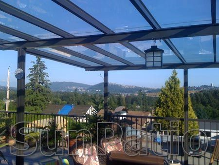 Glass patio covers